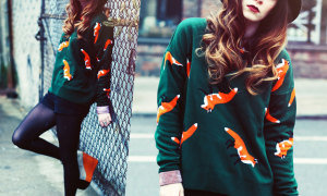Тренд: модный свитер с лисой для Нее и для Него